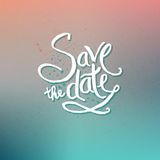 Save the Date Concept on Abstract Background Royalty Free Stock Photos
