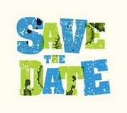 Save the Date Concept Stamped Word Art Illustration Stock Photos