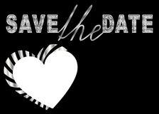 Save the date design for custom photo and text royalty free illustration