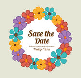 Save the date design. Stock Photo