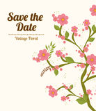Save the date design. Royalty Free Stock Image