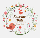 Save the date design. Stock Photography