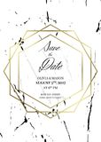 Save the date design template. For Getting married Stock Photo