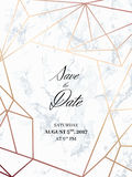 Save the date design template Royalty Free Stock Images