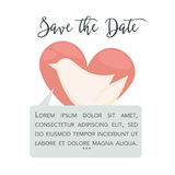 Save the date dove vector greeting card Royalty Free Stock Photos