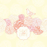 Save the date. Vector floral background Royalty Free Stock Image