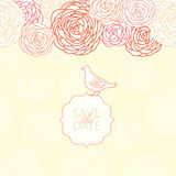 Save the date. Vector floral background Royalty Free Stock Photos