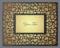Save the Date Floral Card.  Border Frame . Royalty Free Stock Photos