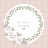 Save the Date Floral Card. Stock Image