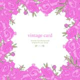 Save the Date Floral Card. Royalty Free Stock Photography