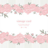 Save the Date Floral Card. Stock Photography