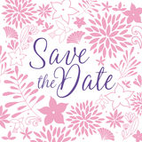 Save the date. Flower  background. Save the date Royalty Free Stock Photography