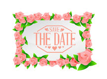 save the date flowers board sign Stock Photo