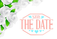 Save the date flowers sign illustration Royalty Free Stock Images