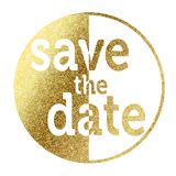 Save the Date golden Royalty Free Stock Image