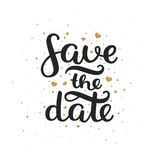 Save the date, hand drawn lettering Royalty Free Stock Photography