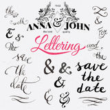 Save the date hand lettering.