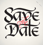 Save the date hand lettering (vector) Stock Images