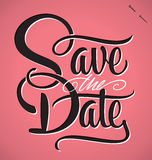 Save the date hand lettering (vector). Save the date hand lettering - handmade calligraphy Royalty Free Stock Photography