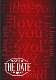 Save the date I love you texture background sign Royalty Free Stock Photography