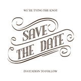Save the Date. Illustrator format eps10 Stock Photography