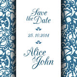 Save the date invitation card Stock Photos