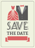 Save the date invitation card concept. stock photography