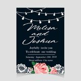 Save the Date Invitation Card with Holiday Stock Photos