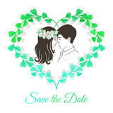 Save the date invitation card Royalty Free Stock Image