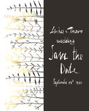 Save the Date Invitation Card Template with Stock Photo