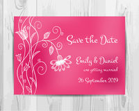 Save the date invitation card. Royalty Free Stock Photography