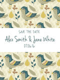 Save the date invitation card Stock Photo