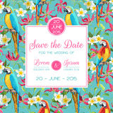 Save the Date, Invitation, Congratulation Card - for Wedding, Baby Shower Stock Photo