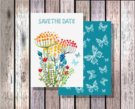 Save the date invitation template illustration Royalty Free Stock Image