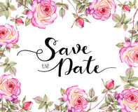 Save the date invitation template Royalty Free Stock Photography