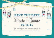 Save the date invitation Royalty Free Stock Images