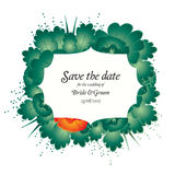 Save the date invite card template Royalty Free Stock Photography