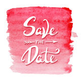Save the Date invite card vector template with modern calligraphSave the Date invite card vector template with modern calligraphy Stock Photo