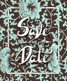 Save the Date invite card vector template with modern calligraphy Stock Photos