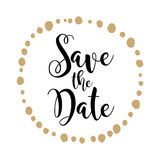 Save the Date invite card vector template stock illustration