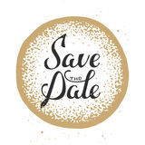 Save the Date invite greeting card vector template Stock Photo