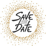 Save the Date invite greeting card vector template vector illustration