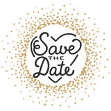 Save the Date invite greeting card vector template Stock Image