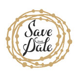 Save the Date invite greeting card vector template Royalty Free Stock Images