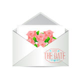 Save the date invite illustration Royalty Free Stock Images