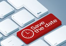 Save the date Key - Keyboard with 3D Concept illustration vector illustration