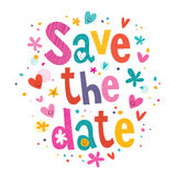 Save the date stock illustration