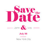 Save the Date lettering Royalty Free Stock Photos