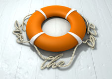 Save The Date Lifebuoy Royalty Free Stock Photography