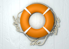 Save The Date Lifebuoy Stock Photo